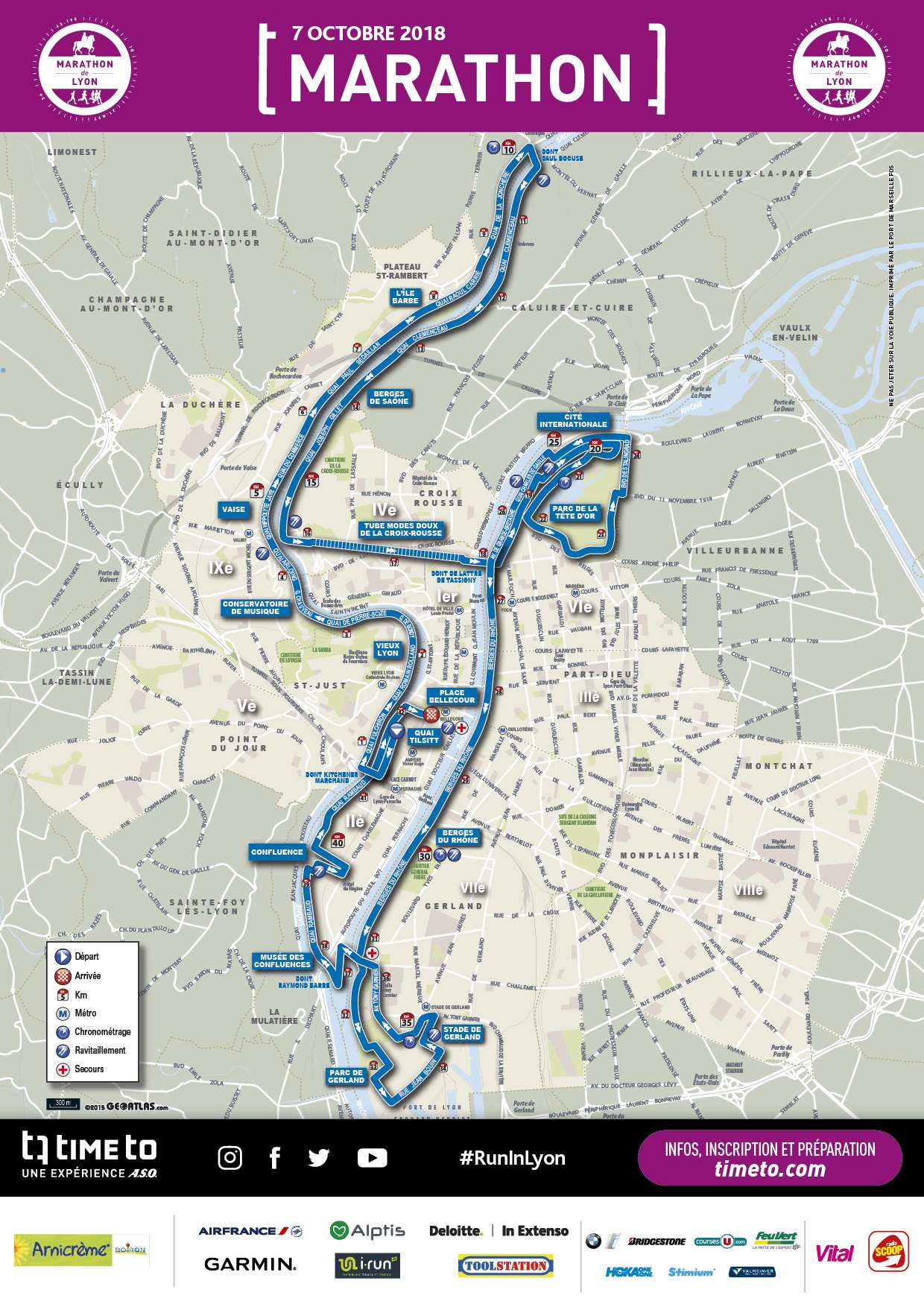 Map - Run In Lyon Marathon