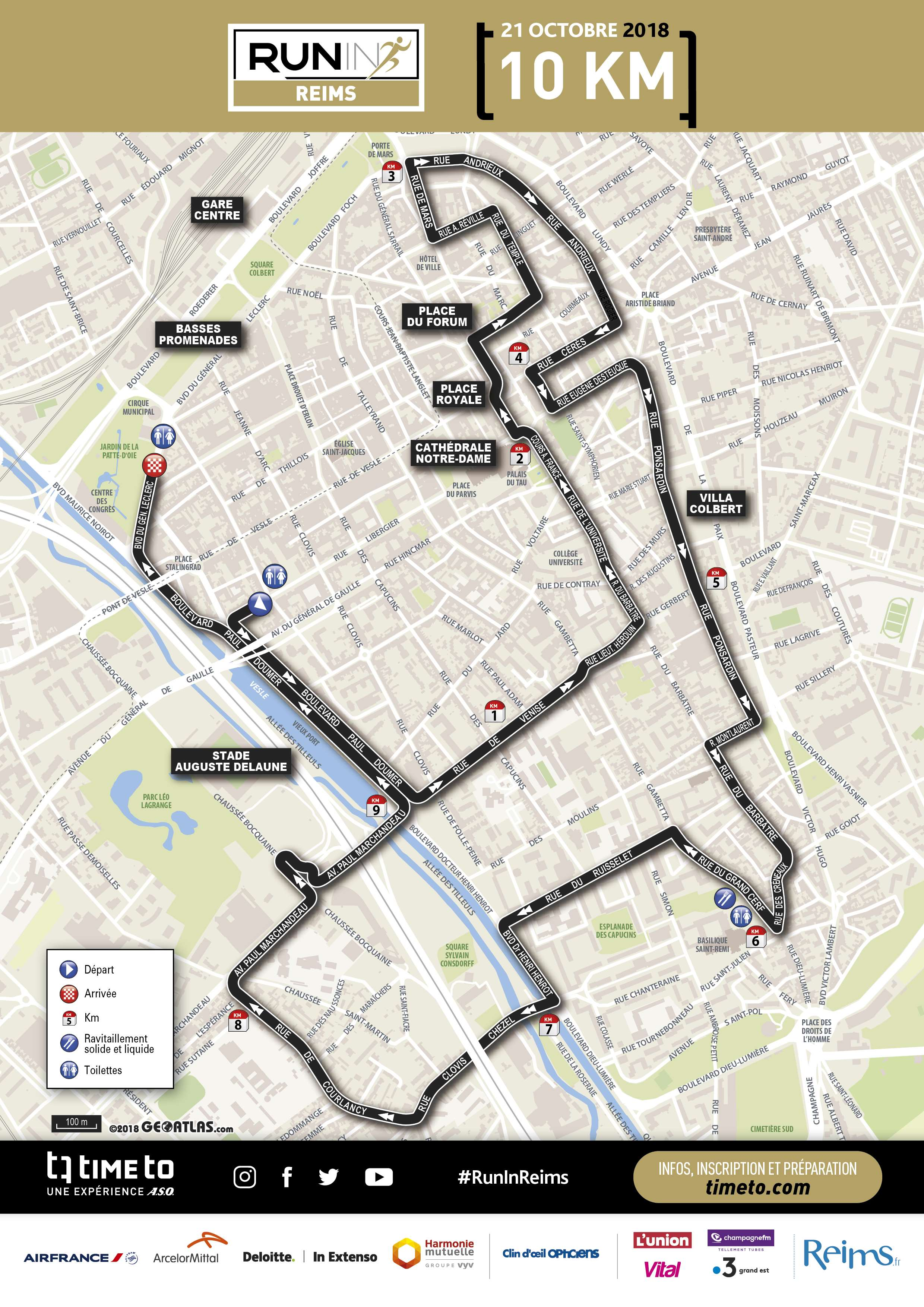 Map - Run In Reims 10k