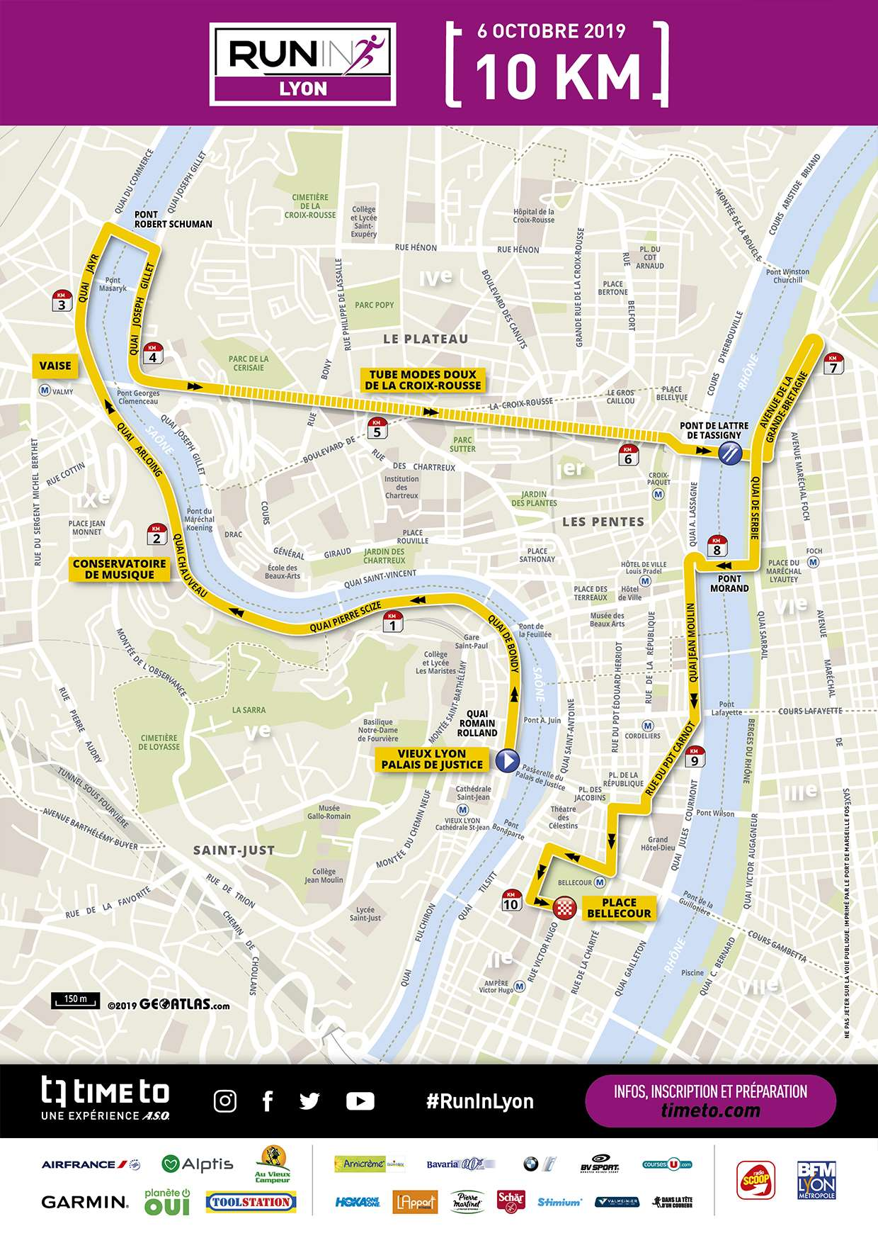 Map - Run In Lyon 10k